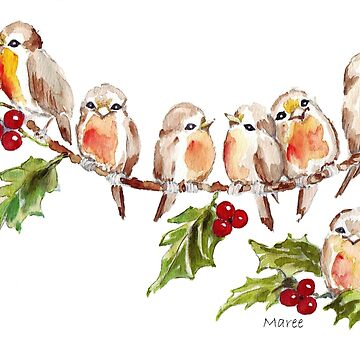 Seven Little Birds by MareeClarkson