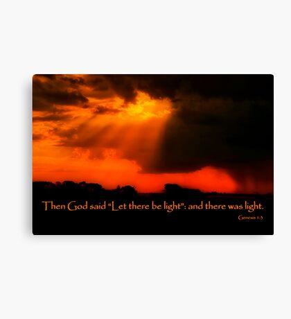 """And God Spoke"" Canvas Print"
