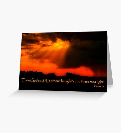 """And God Spoke"" Greeting Card"