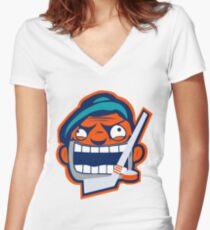 NYI Rabid Team Logo Women's Fitted V-Neck T-Shirt