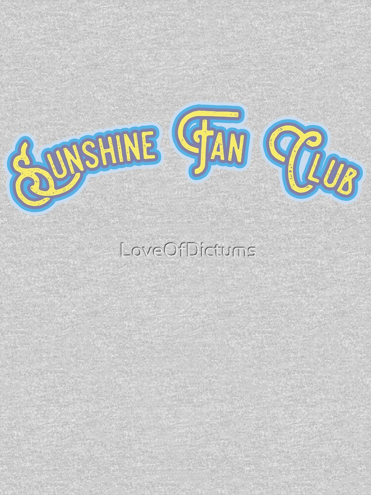 Sunshine Fan Club - Bold Yellow & Cobalt Blue Version by LoveOfDictums