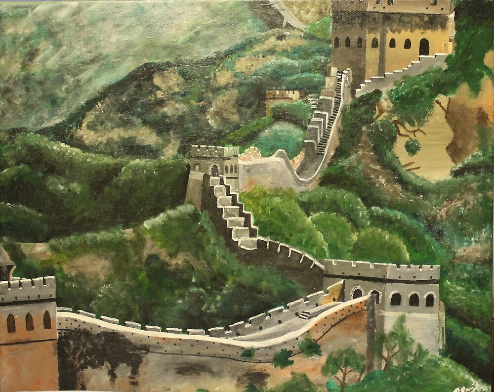 Great Wall of China  by naasirahramjan
