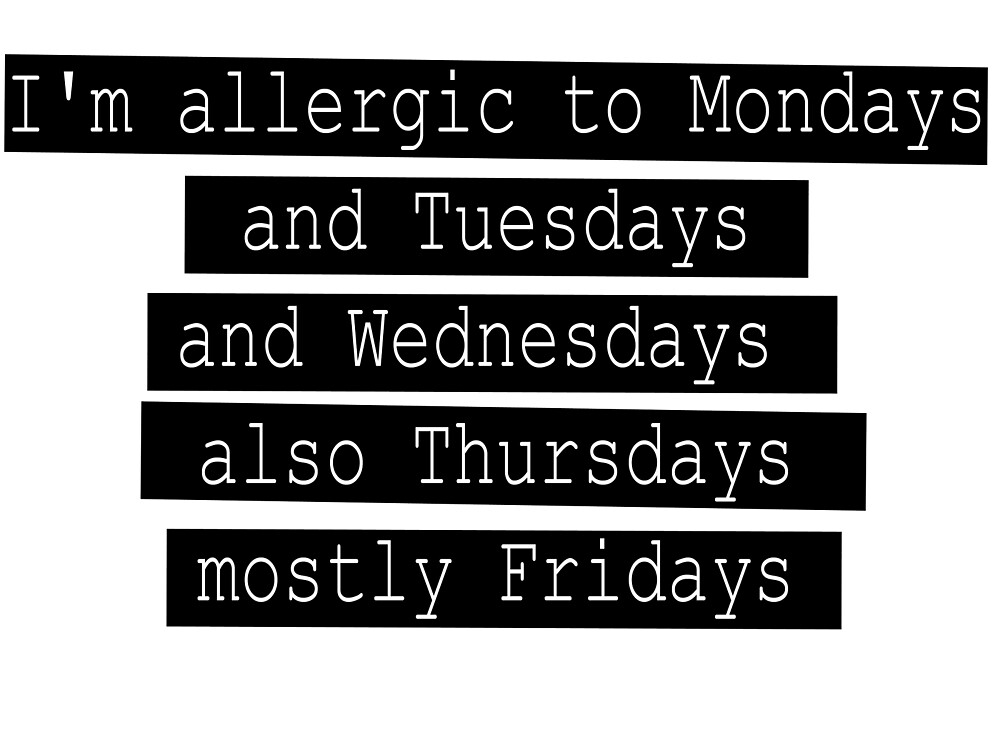 Weekly allergies by AtariKat14