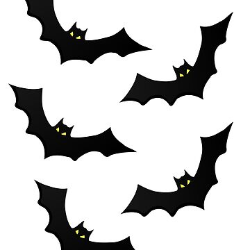 Halloween Cute Scary Bat Design by PopsTees