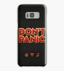 """Big friendly letters saying """"Don't Panic"""" Samsung Galaxy Case/Skin"""