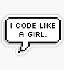 I CODE LIKE A GIRL. Sticker