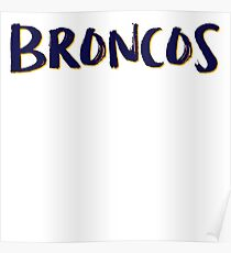 Broncos Poster