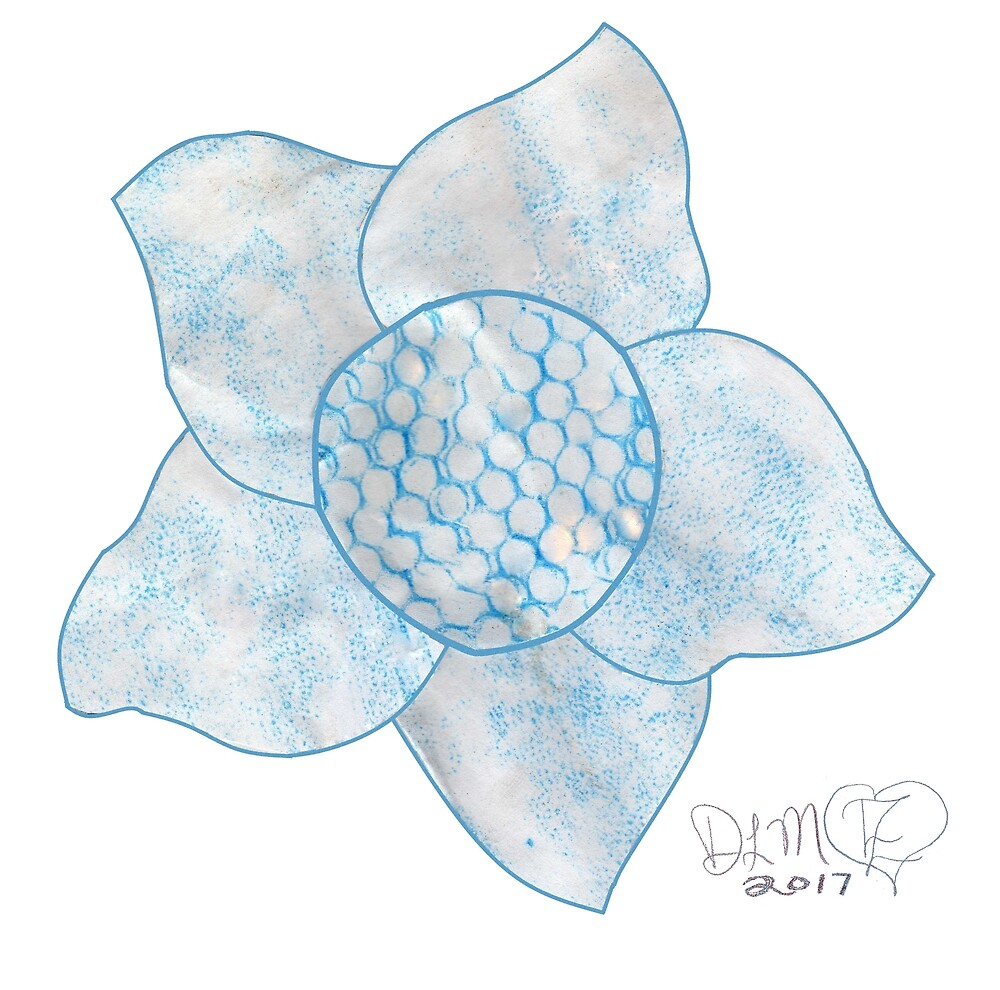 Teal or Turquoise Flower by Dawna Morton