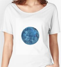 Full Moon Galaxy Space Women's Relaxed Fit T-Shirt