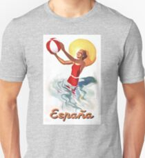 1940 Spain Beach Travel Poster T-Shirt