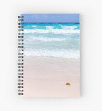 Pink Sand, Blue Ocean Spiral Notebook
