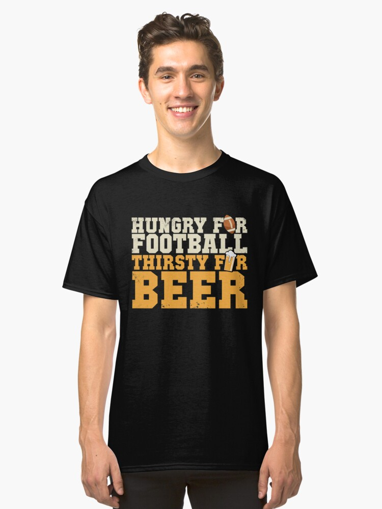 Beer and Football Classic T-Shirt Front