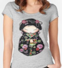 Little Green Teapot for colour  Women's Fitted Scoop T-Shirt