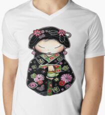Little Green Teapot for colour  Men's V-Neck T-Shirt