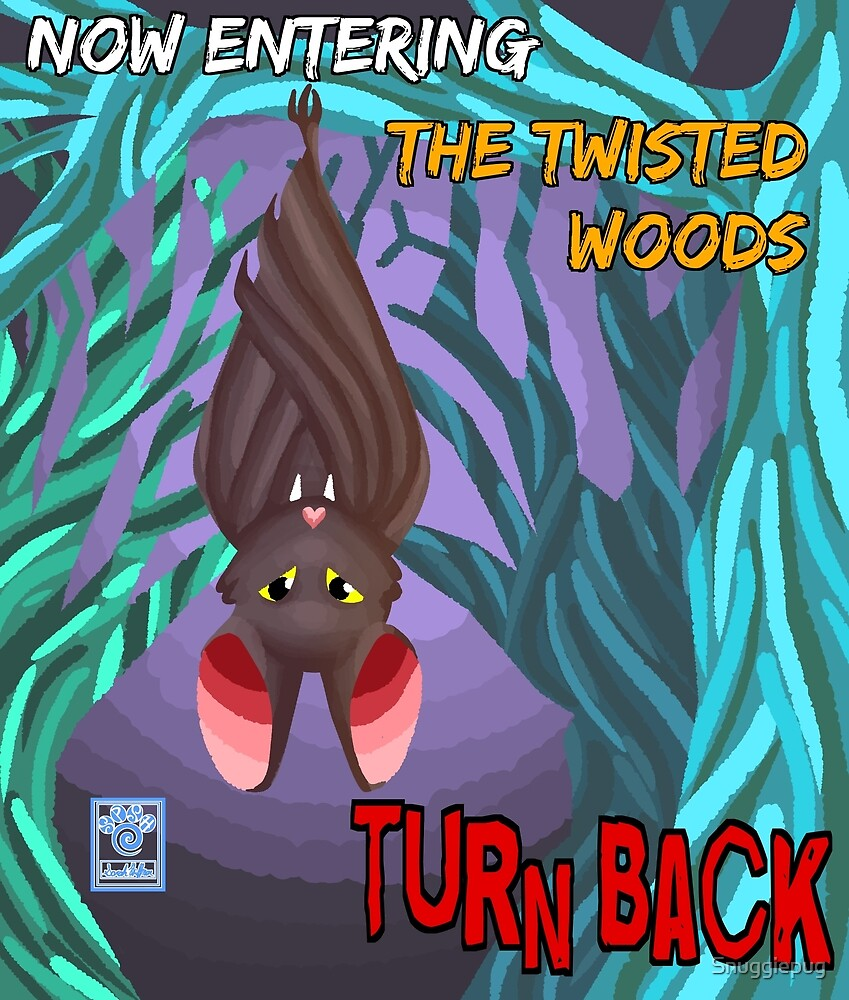 The Twisted Woods Cool Colors WITH WORDS by Snuggiepug