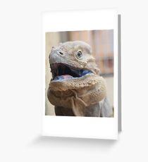 Lizard wird dich holen ... Grußkarte