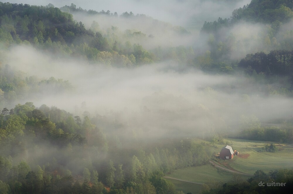 Barn under the fog by dc witmer