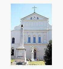 St. Louis Cathedral Back Lawn Photographic Print