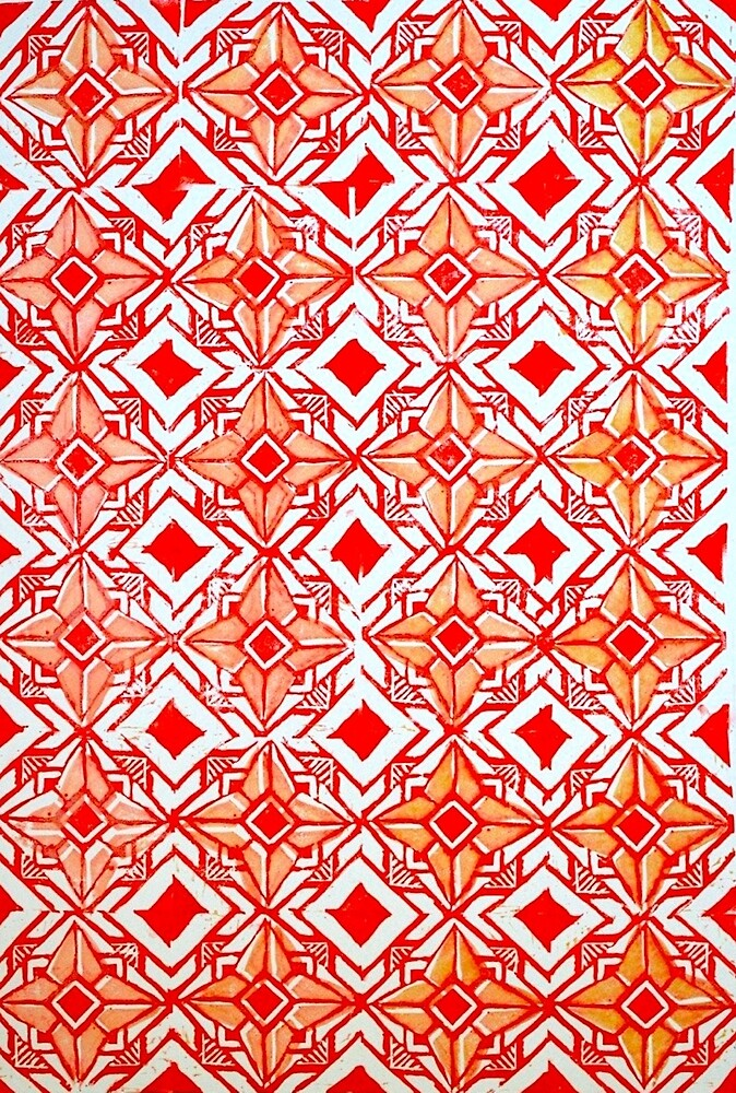 Tile pattern print by emmaries