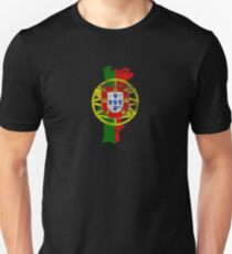 Portugal Flag and Map Portuguese Pride T-Shirt T-Shirt