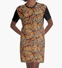 Monarch Butterflies | Butterfly Pattern Graphic T-Shirt Dress