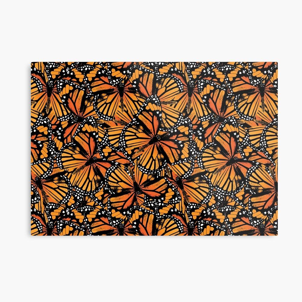 Monarch Butterflies | Vintage Butterflies | Butterfly Patterns |  Metal Print