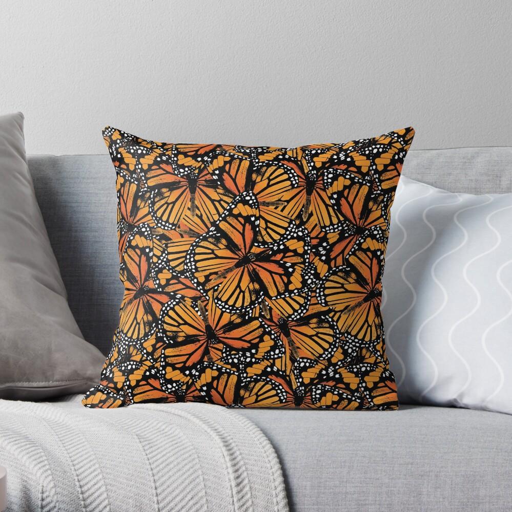 Monarch Butterflies | Vintage Butterflies | Butterfly Patterns |  Throw Pillow
