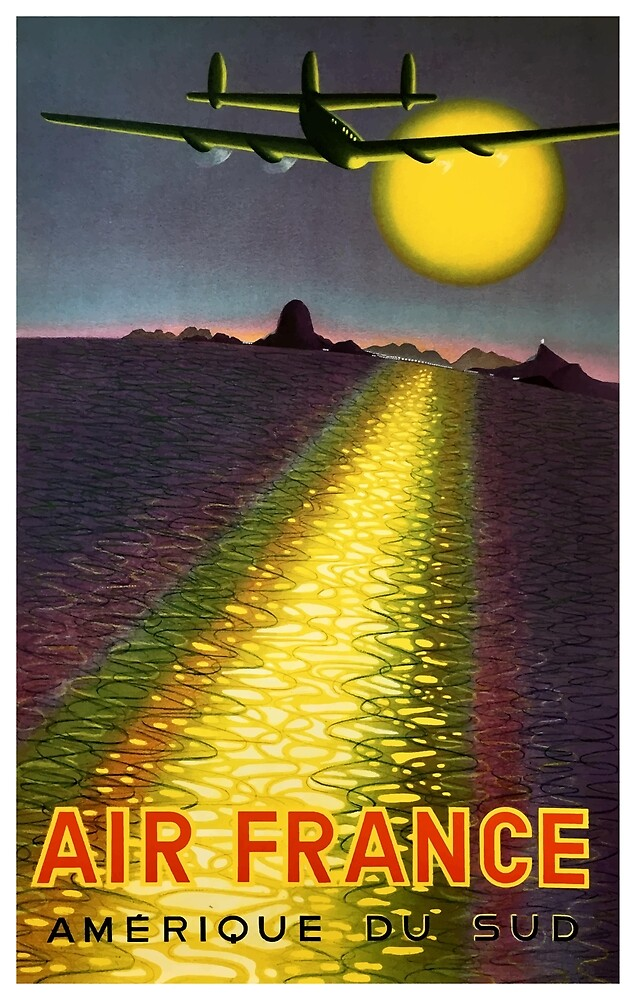 1949 Air France South America Travel poster  by retrographics