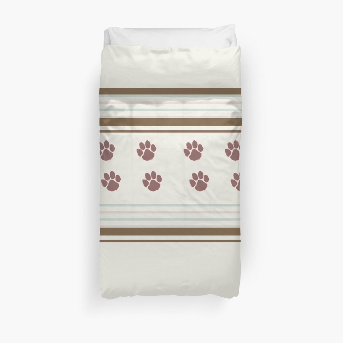 Lodge décor  - The simplicity of Brown stripes and Paw Prints by Maree Clarkson