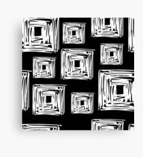 Geometric White Cube Pattern Canvas Print