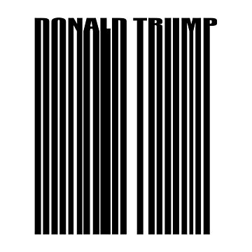 Donald Trump Barcode Logo by dishess