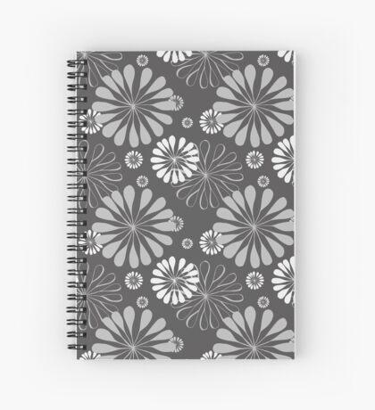 Mod Floral Print Spiral Notebook