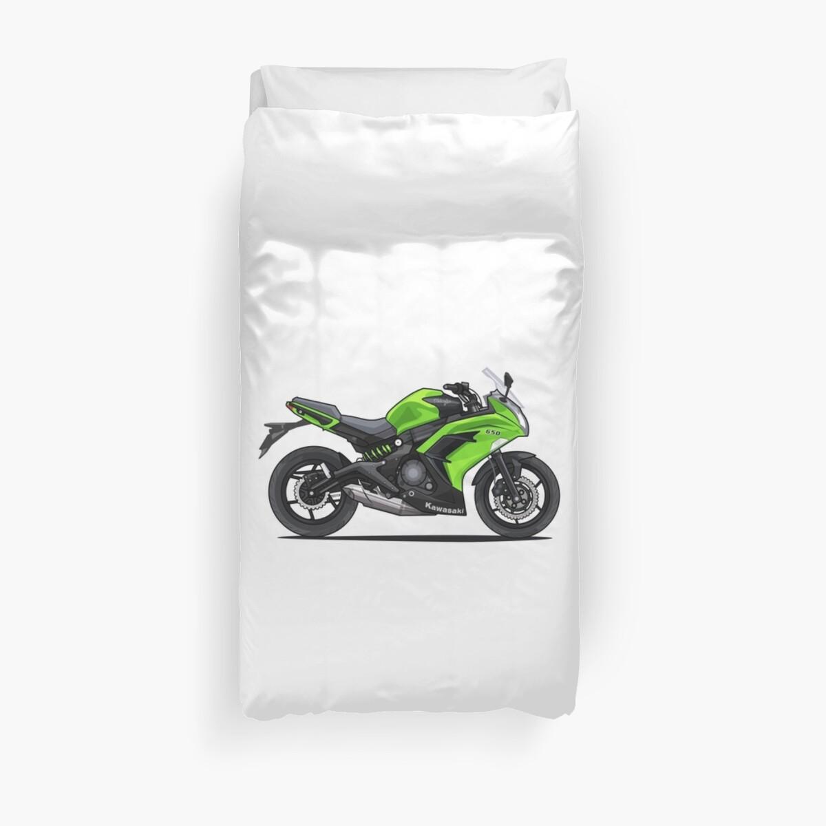 Kawasaki Ninja 650 Moto Housses De Couette Par Xever Redbubble