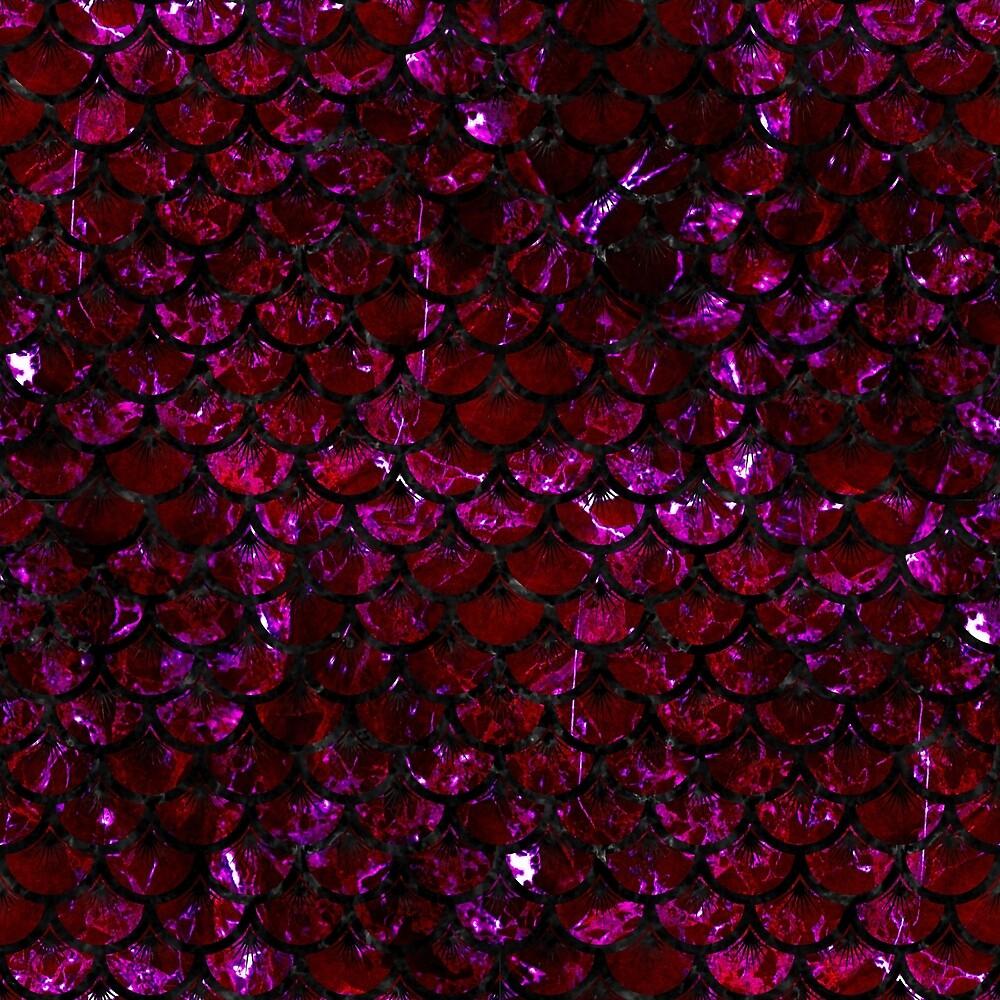 SCALES3 BLACK MARBLE & BURGUNDY MARBLE (R) by johnhunternance
