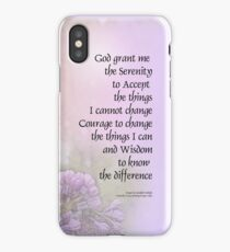 Serenity Prayer Lilacs iPhone Case/Skin