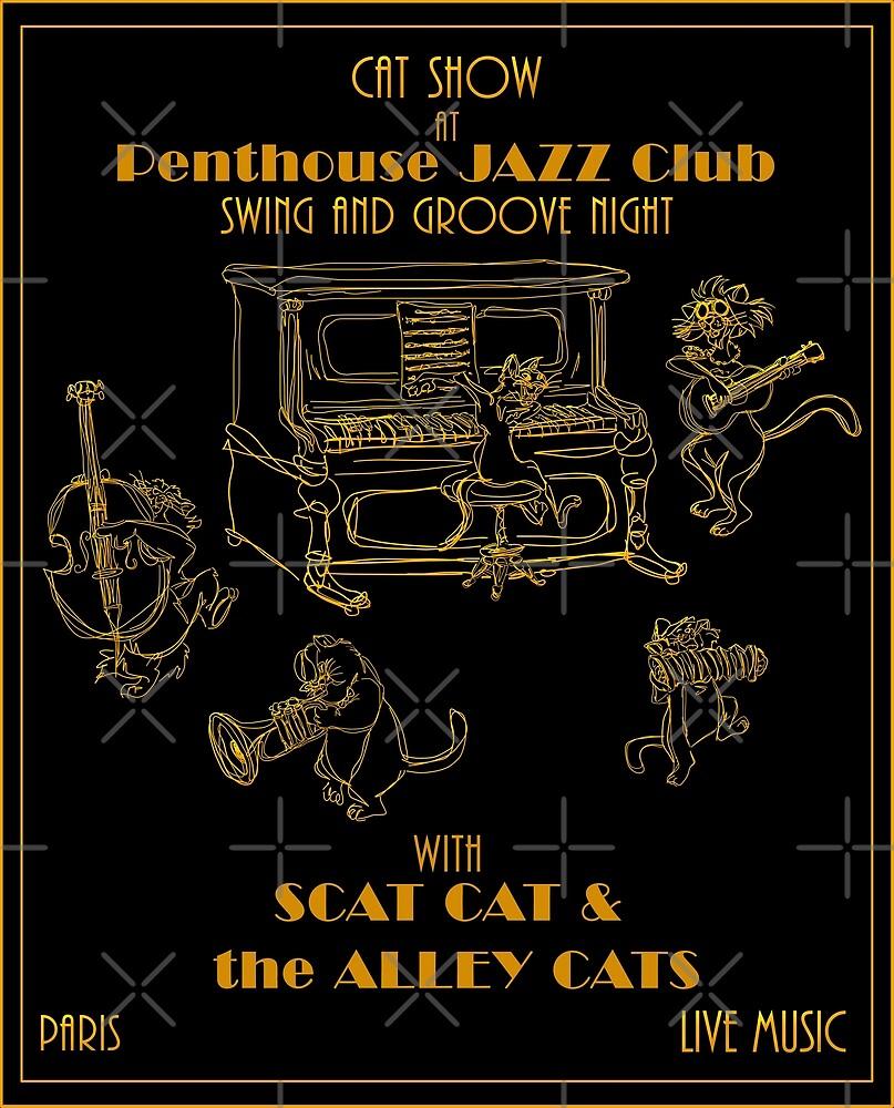 Retrò Jazz Cat-Show by CatchThePeach