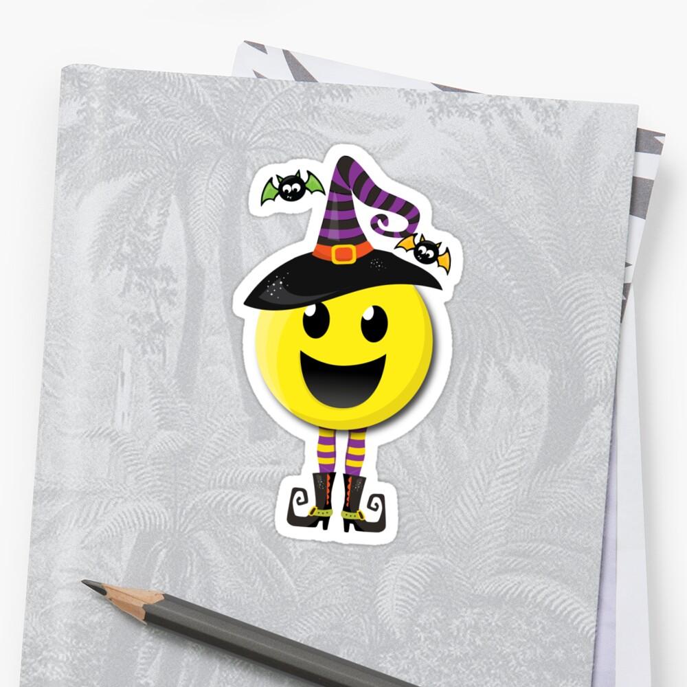 Emoji Happy Halloween Witch by 4Craig