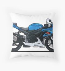 Suzuki GSX R600 Motorcycle Throw Pillow