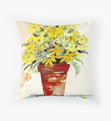 Gardening dreams Throw Pillow