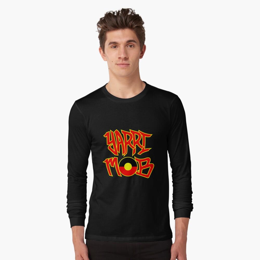 Yarri Mob Graffiti - Aboriginal Flag 5 Long Sleeve T-Shirt Front