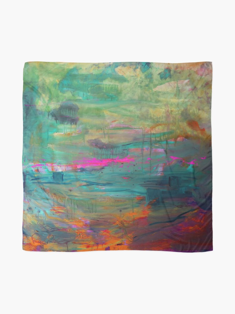 Alternate view of Abstract Dreams in Pink Scarf