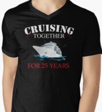 Meaningful  T-shirt For 25th Wedding Anniversary, Funny Anniversary Gifts For Women Men's V-Neck T-Shirt