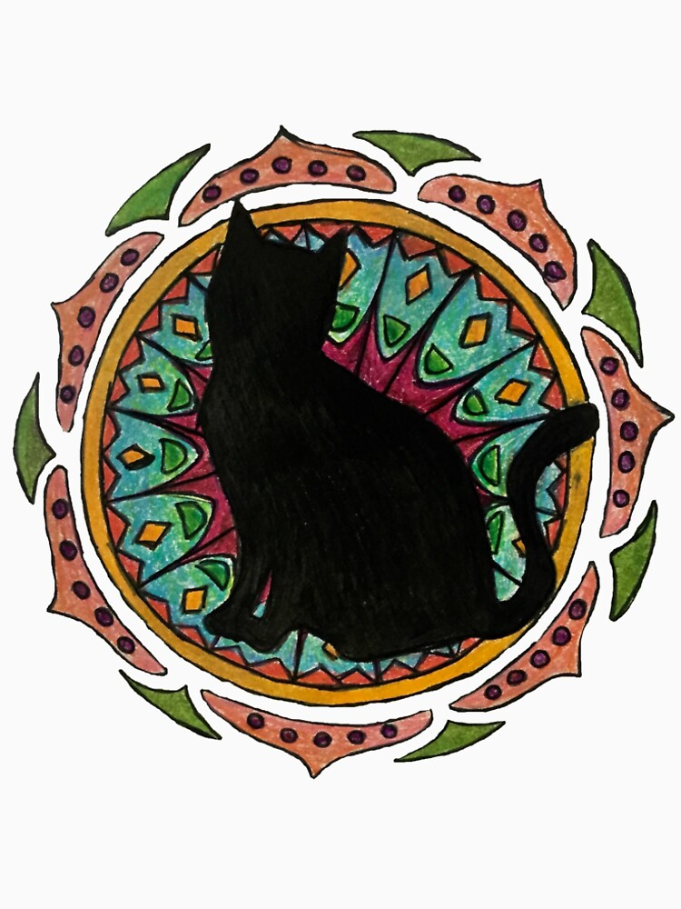 Black Cat Mandala de charliecross