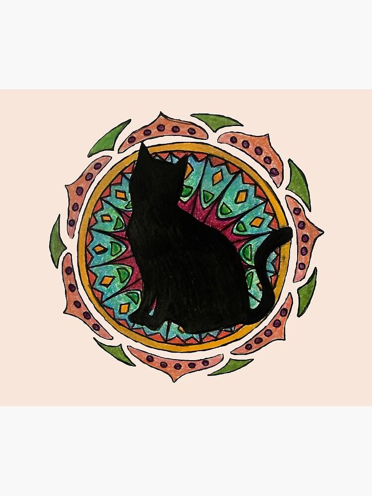 Black Cat Mandala de charliecross