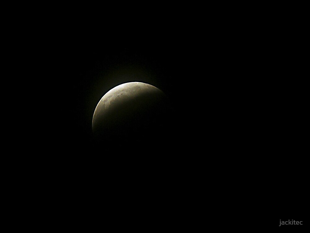 Last Nights Partial Eclipse of the Moon by jackitec