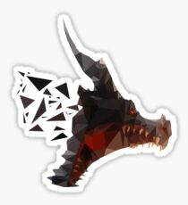 Prismatic Dark Dragon Sticker