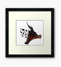 Prismatic Dark Dragon Framed Print