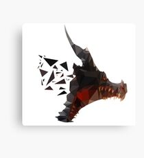 Prismatic Dark Dragon Canvas Print