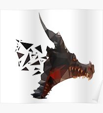 Prismatic Dark Dragon Poster