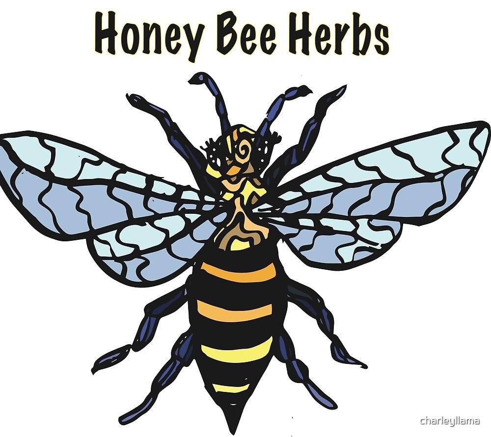 Honey Bee Herbs Logo by charleyllama